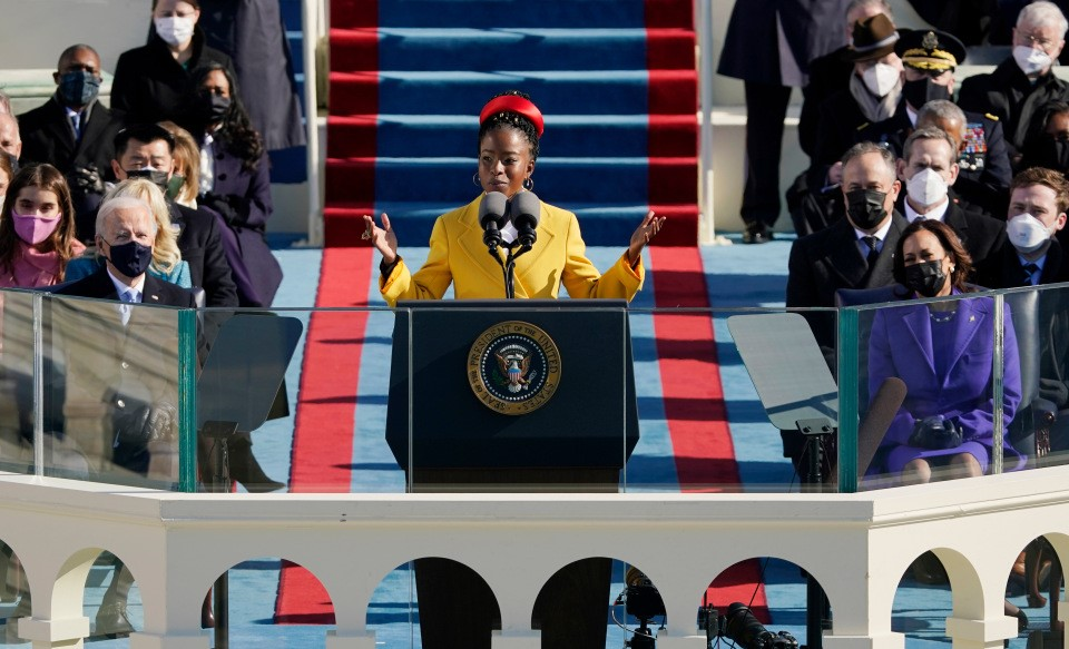 The First US Youth Poet Laureate, Amanda Gorman Stuns At Biden Inauguration