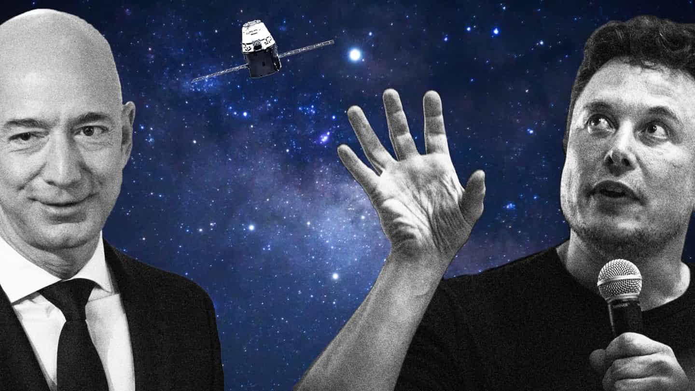World's Richest Men, Musk and Bezos, Fight Over Satellite Fleets