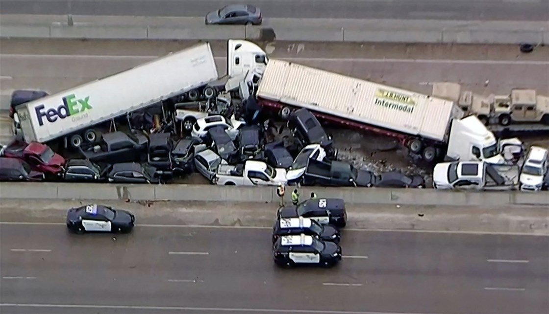 At Least Six Dead, Dozens Injured In 130-car Pileup On Icy Texas Interstate