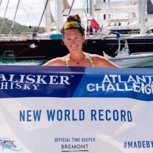 Jasmine Harrison delights in Atlantic Ocean world record row