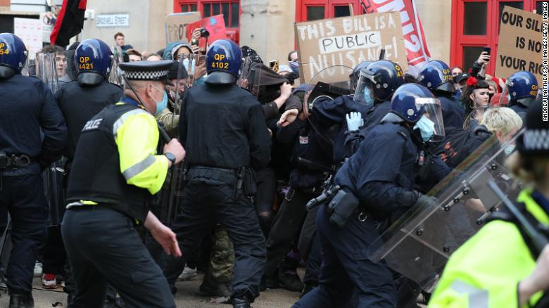 Police Injured In Bristol Protest Against Controversial Anti-Protest Bill