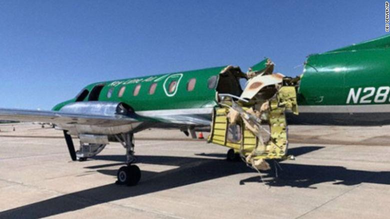 Plane Lands Safely After Almost Being Cut In Half In Midair Collision