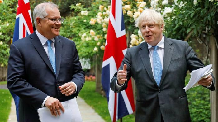 Boris Johnson Hails 'New Dawn' As UK And Australia Agree Free Trade Deal