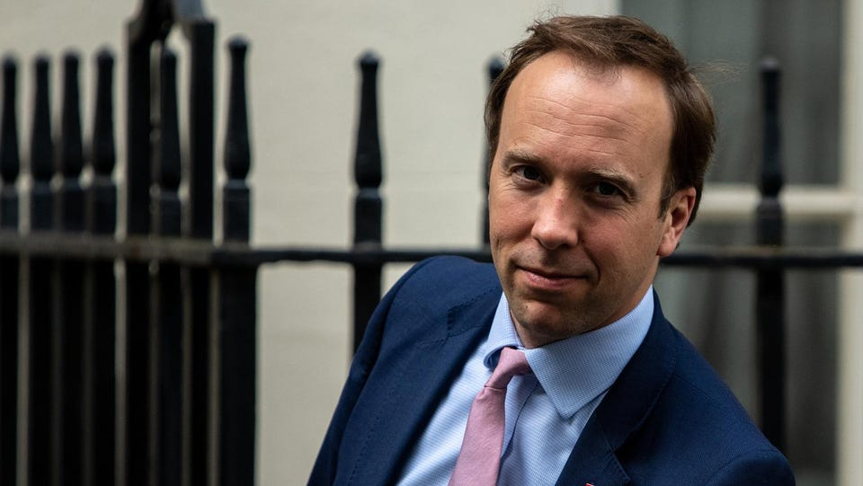 U.K. Health Chief Quits After Caught Kissing Aide During Lockdown