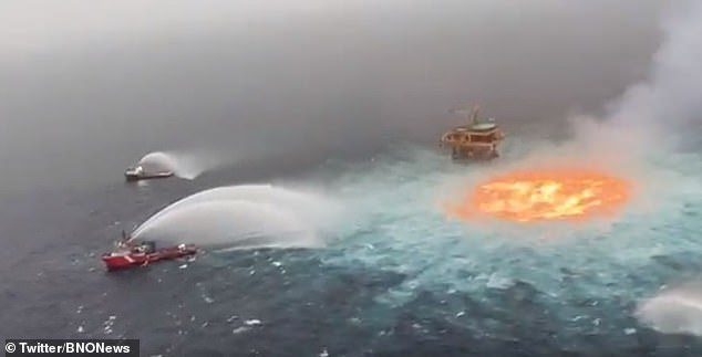 Oil Company Blames Gas Leak For Fire On Ocean's Surface In Gulf Of Mexico